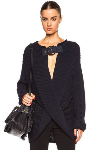 STELLA MCCARTNEY Ribbed Twisting Sweater, IT 38 / US 2
