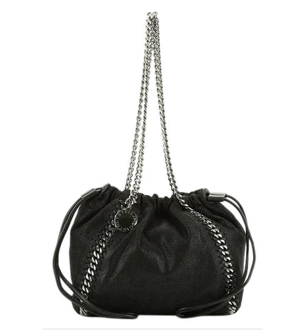 STELLA MCCARTNEY Falabella Drawstring Bucket Bag Shaggy Deer Small BRAND NEW