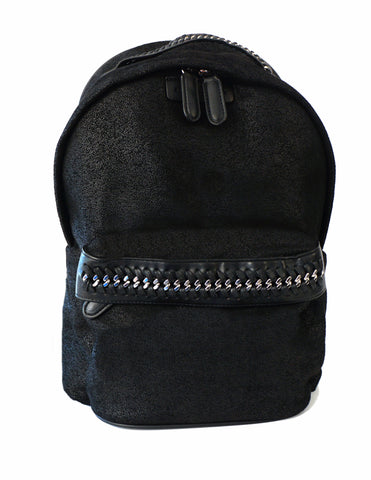 STELLA McCARTNEY Black Shaggy Deer Falabella GO Backpack BRAND NEW