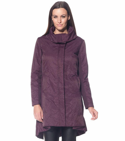STELLA CARAKASI Purple Potion Oversized Insulated Definitive Coat S $425 Ret
