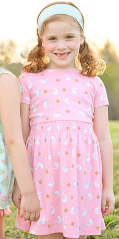 MATILDA JANE 10 Hello Lovely Blushing Pink Swan Lap Dress NEW WITH TAGS