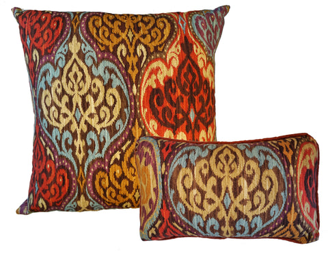 THE WELL DRESSED BED Tangier Ikat Cotton Sateen Accent Pillows with INSERT