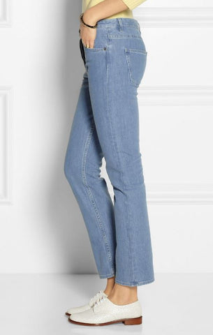 THE ROW Norland Mid-Rise Straight Leg Jeans, Sz 4