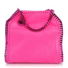 STELLA MCCARTNEY Shaggy Deer Tiny Falabella Tote Hot Pink NEW WITH TAGS