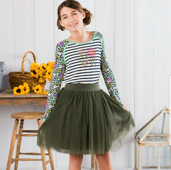 MATILDA JANE 435 Girls Treehouse Green Mesh Skirt 10 NEW WITH TAGS