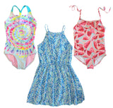 TUCKER+TATE Cover-up, GYMBOREE Watermelon CAT & JACK Tie Dye Bathing Suits 10/12