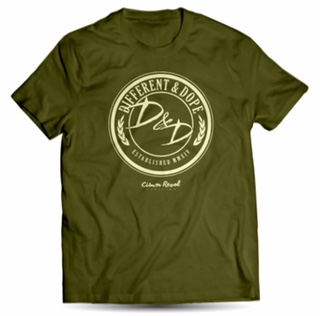 Different & Dope (D&D) Military Green Tee with White Print