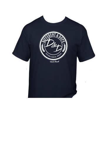 Different & Dope (D&D) Navy Blue Tee with White Print