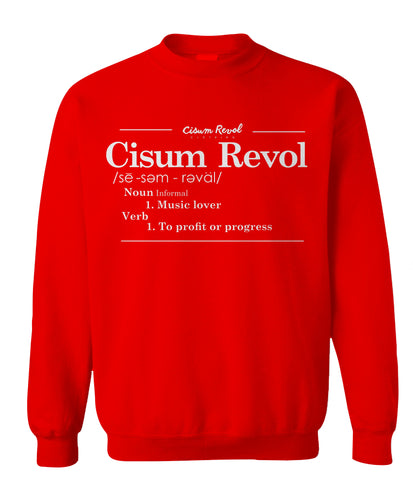 """DEFINITION"" Red Sweatshirt with White Print"