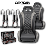 (Grey) Carbon Edition Daytona Seats (With Harnesses)