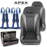 (Grey) Apex Seats (Harness Bundle)