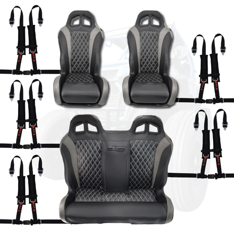 Carbon Fiber Bench Seat Bundle with Harnesses