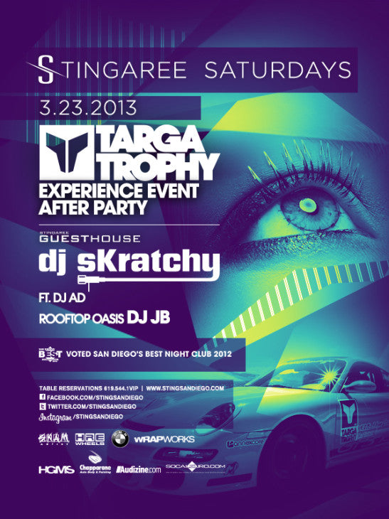 TARGA STING PARTY FLYER