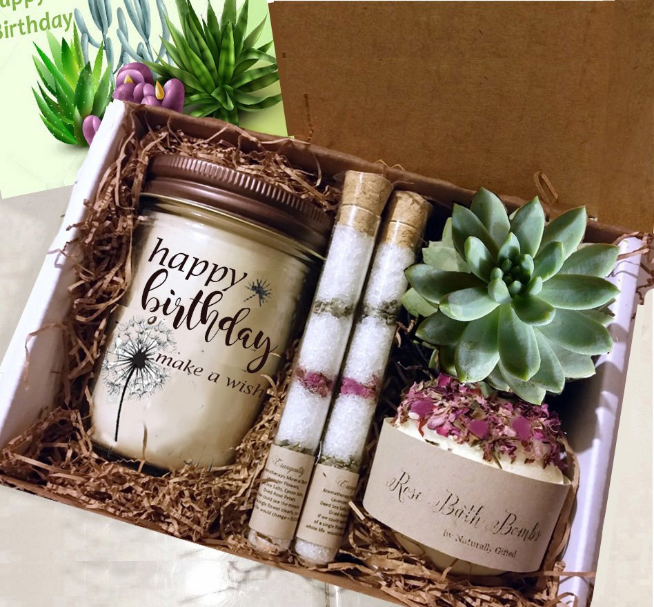Best Friend Gift, Friend Birthday Gift, Best Friend Birthday Basket, Sister Gift, Wife Birthday, Birthday for Her - Naturally GiftedNY