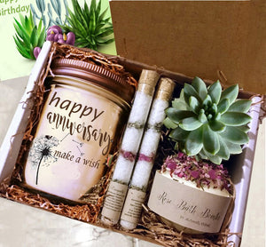 Anniverary Gift,  Gift-Birthday Gift Box-Thinking of You Gift | Thank You Gift | Friend Gift | Best Friend Gift |Gift For Her - Naturally GiftedNY