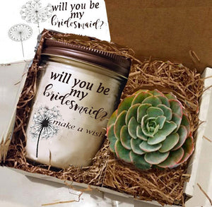 Will you be my Bridesmaid Gift, Will you be my Bridesmaid, Maid of Honor, Maid of Honor Gift, Bridesmaid Gift - Naturally GiftedNY