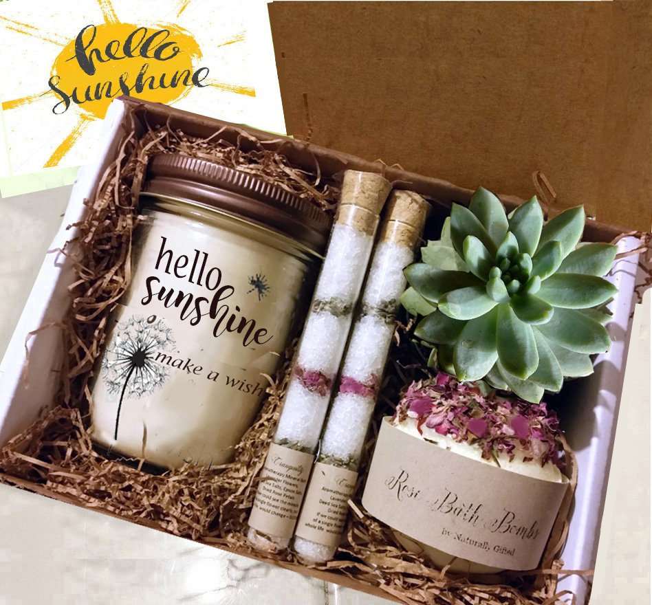 Box of Sunshine, Miss You Gift, Best Friend Gift, Friendship Gift, Cheer Up Gift-Thinking of You Gift | Friend Gift - Naturally GiftedNY