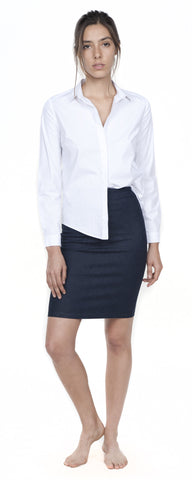 Pencil Skirt with Back Zipper
