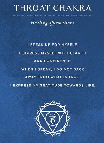 throat chakra healing affirmations