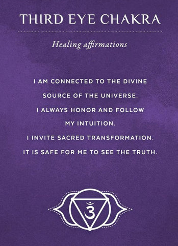 third eye chakra healing affirmations