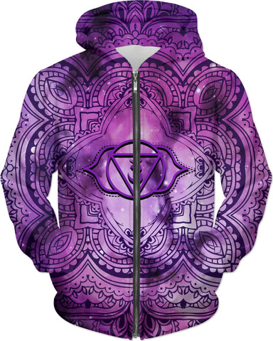 Cosmic Purple 3rd Eye Chakra Custom Hoodie