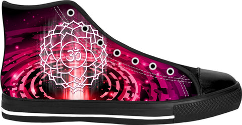 Crown Chakra Custom Black High Tops