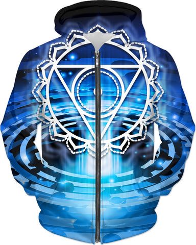 Cosmic Blue Throat Chakra Hoodie