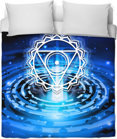 Throat Chakra Custom Duvet Cover
