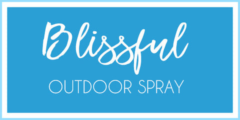 Blissful Bug Spray bottle, bug spray, bug repellent, insect spray, insect repellent, camping, outdoor, mosquito spray, camp