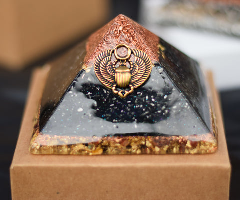 Copper Tipped Tactical Orgonite Pyramid