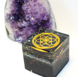 seed of life onyx orgonite black