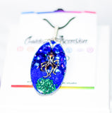 Ocean Blue Octopus Orgonite Pendant - Lapis Lazuli and Malachite