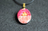 Pink and Gold Ladybug Orgonite Pendant - Rose Quartz