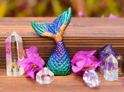 Colorful Orgonite Mermaid tail