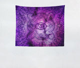 purple yoga studio tapestry for relaxation