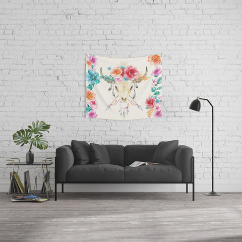 Classic Watercolor Bohemian Style Tapestry - 3 Sizes Available