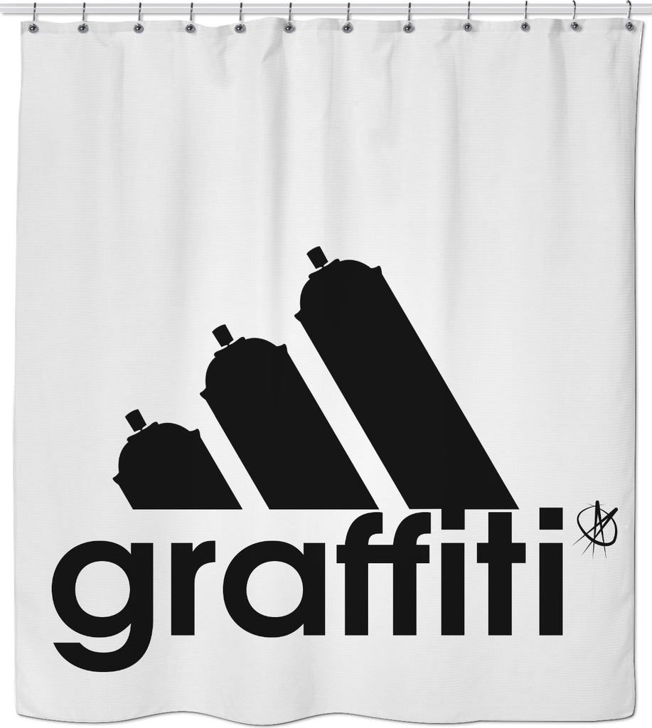 imagina Conflicto Prisionero de guerra  NEW adidas graffiti shower curtain | Golden Ascension – Golden Ascension