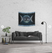 Esoteric Triple Moon Tapestry - 3 Sizes