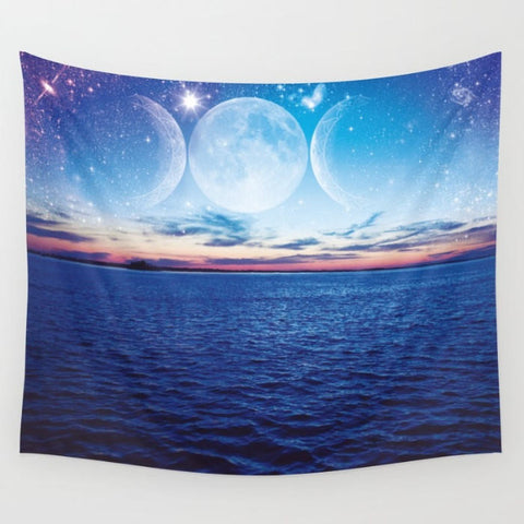 "Photography Tapestry ""Starry Night in Dunedin""  - 3 Sizes by Infinity Photography"