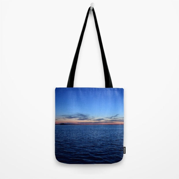 "Sunset off the pier Tote Bag- 16"" x 16"""