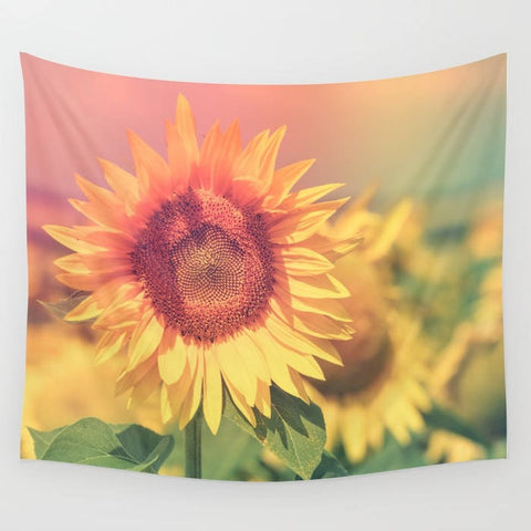 Hazy Summer Sunflower Tapestry - 3 Sizes
