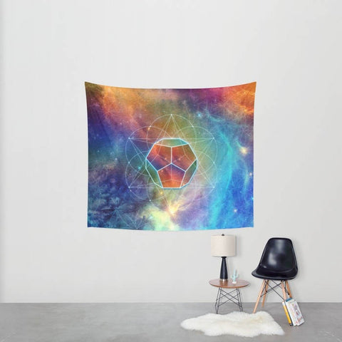 Cosmic Dodecahedron Tapestry - 3 Sizes