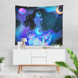 Nocturnal Goddess Cosmic Tapestry  - 3 Sizes