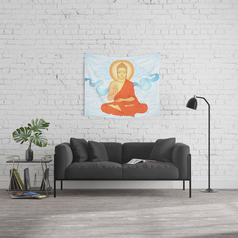 Peaceful Buddha Meditation Tapestry - 3 Sizes available