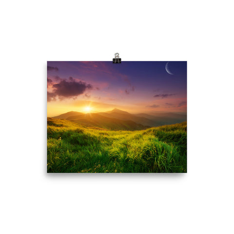 Mountain Sunrise Poster