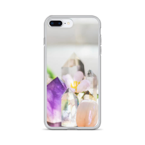 Flowers and Crystals Photography iPhone Case
