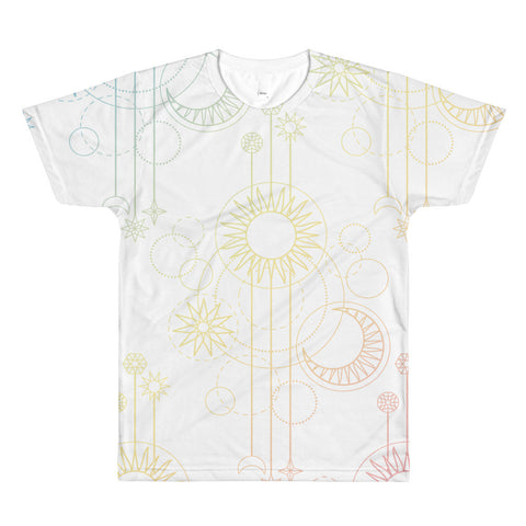 Pastel Astrology Print t-shirt