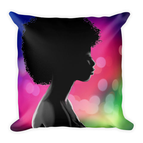 Unique Double Sided Rainbow/Blue afrodisiac Square Pillow - 2 different colored sides