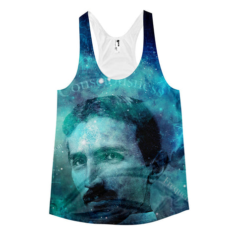 Tribute to Tesla - Single Sided All Over Print racerback tank