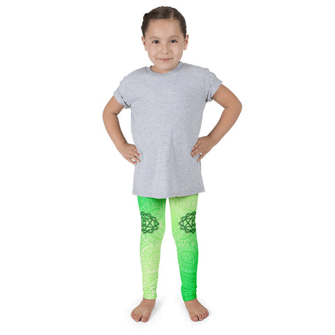 Fourth Green Anahata Heart Chakra Kid's Leggings
